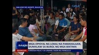 Saksi: Mga opisyal ng lokal na pamahalaan, dumalaw sa burol ng mga biktima