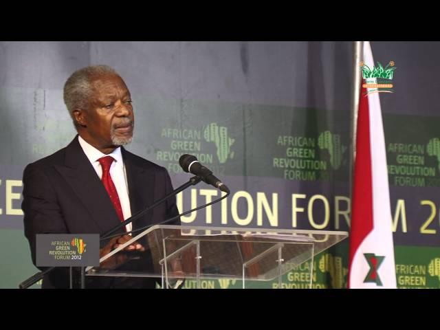 A Green Revolution Forum (2012): Kofi Annan speech at AGRF Pt. 1