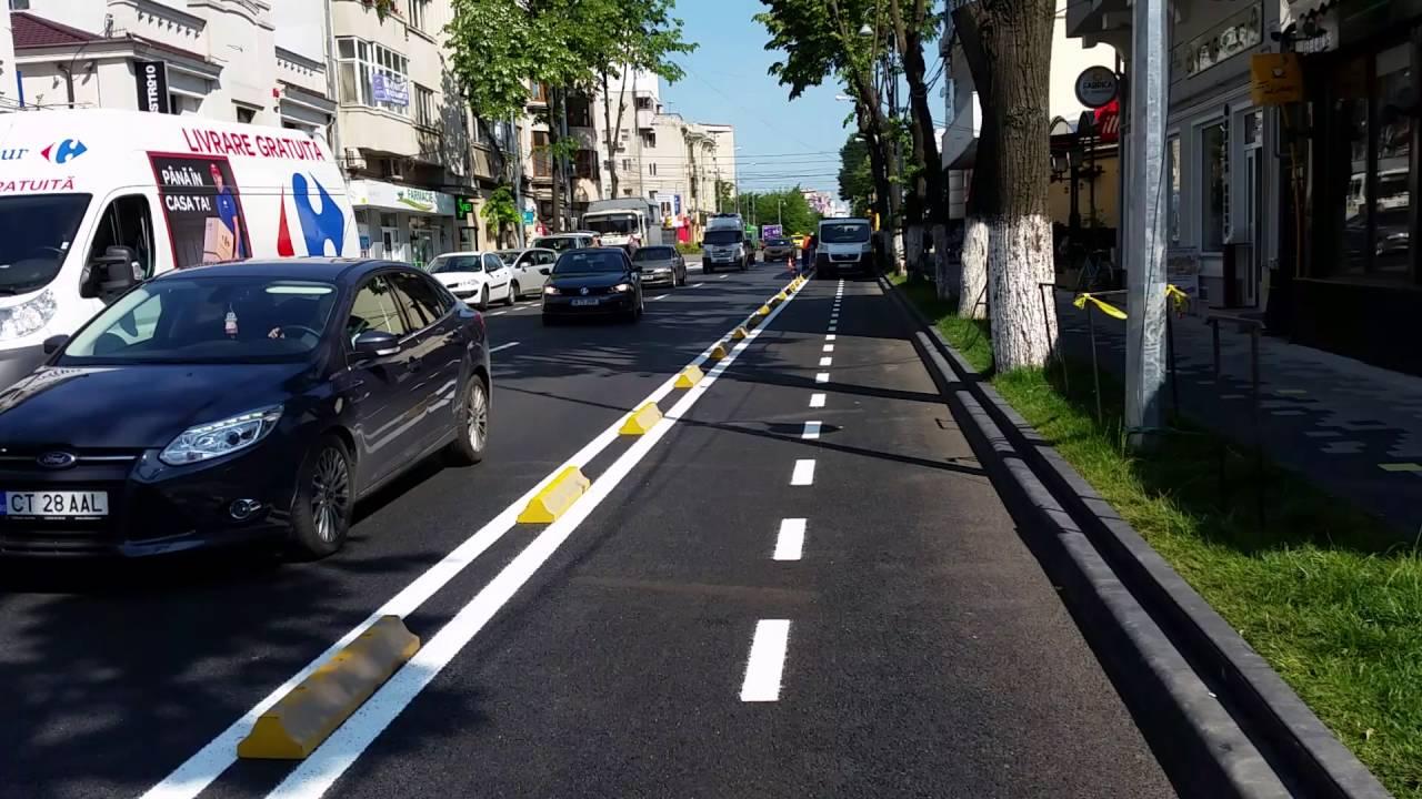 Pe Bulevardul Tomis A Fost Nfiinat O Pist De Biciclete