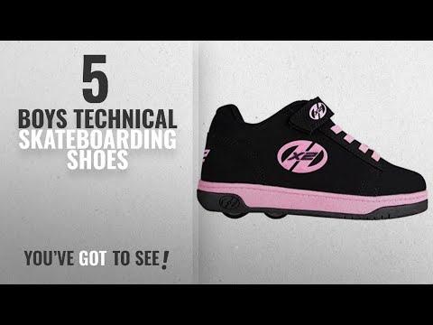 Top 10 Boys Technical Skateboarding Shoes [2018]: Heelys Dual Up - Black/Pink