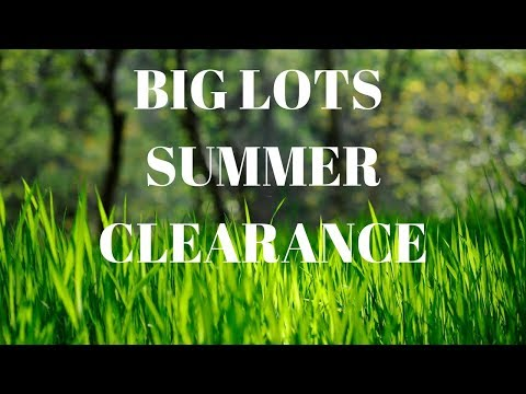BIG LOTS SUMMER 🌝 CLEARANCE IN STORE WITH MUSIC 8/9/2017