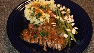 HelloFresh - New York Strip Steak w/ Truffled Mashed Potatoes & Green Beans Amandine