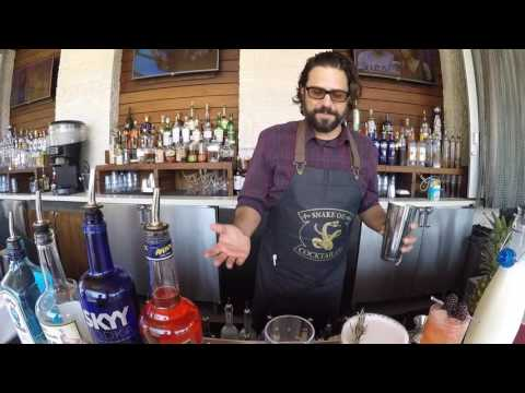 Comic-con drinks at Hard Rock Hotel 2016 Pokemon Float