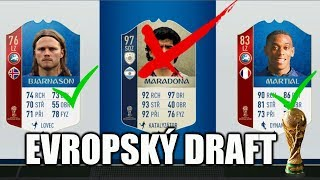 EVROPSKÝ DRAFT! [FIFA WORLD CUP 2018]