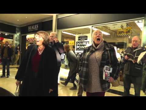 Bournemouth Symphony Chorus Flash Mob Performance at the Dolphin Shopping Centre, Poole