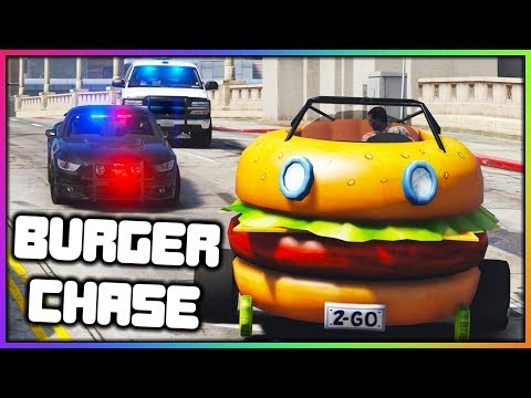 GTA 5 Roleplay - Police Chase Burger Car | RedlineRP