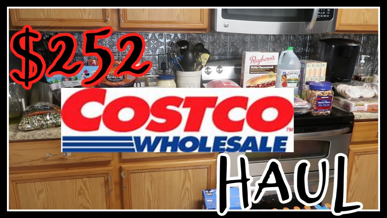 $252 Monthly trip to Costco with Prices!