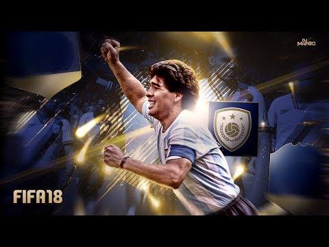 MARADONA ICONO (LEYENDA) EN FIFA 18 !!!