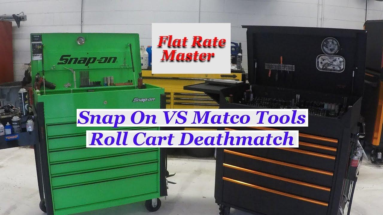 Snap On Krsc46 Vs Matco Jcs 770 Roll Carts Youtube