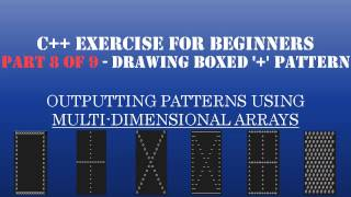 """C++ Learn To Program - Multidimensional Arrays & Loops to Create Patterns - Pt8: Draw Boxed """"+"""" Sign"""