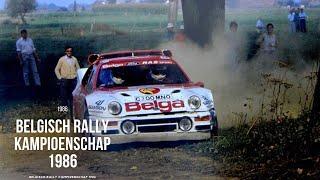 Belgisch rally kampioenschap 1986