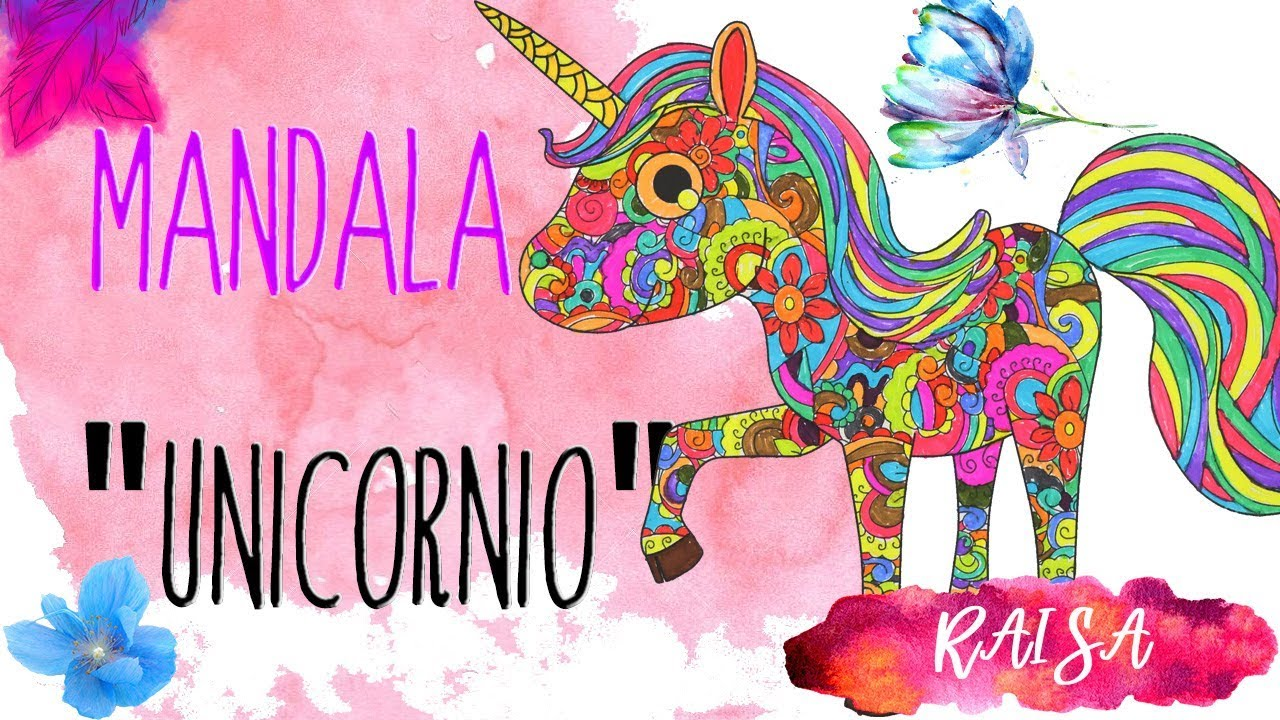 Unicornio Animado Pintando Mandalas Youtube