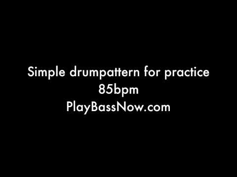 85 bpm Drum machine loop pattern