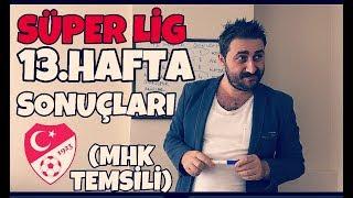 Süper Lig 13.Hafta Sonuçları - Arif Sevimli