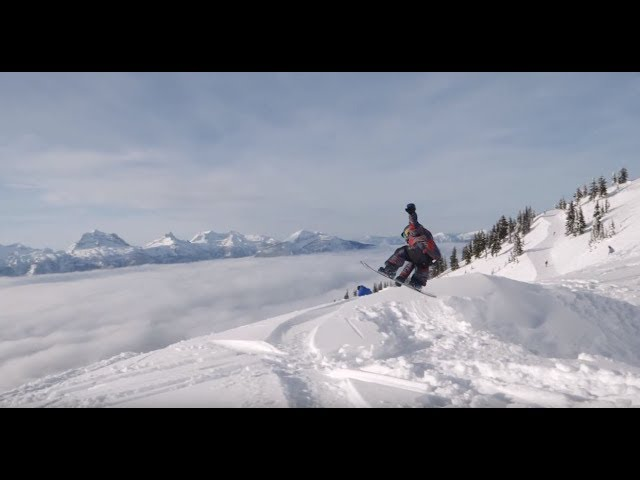 Blue skies and big airs with Kasper and AJ
