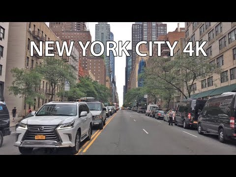 Driving Downtown 4K -  NYC's Billionaires' Row - New York City USA