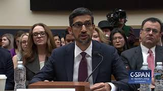 Google CEO Sundar Pichai delivers his opening statement before the House Judiciary Committee during a hearing on Data Collection. Watch full video here: ...