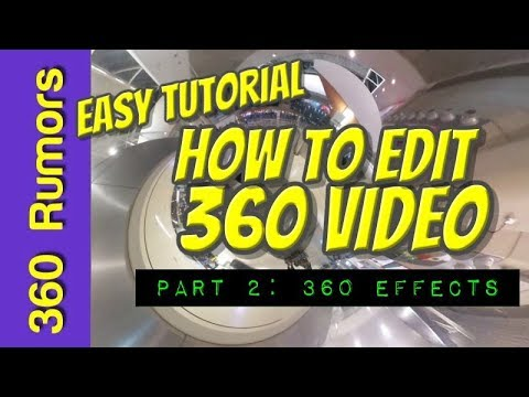 EASY tutorial on how to edit a 360 VIDEO - Part 2: 360 effects (on Magix Movie Edit Pro Plus 2018)