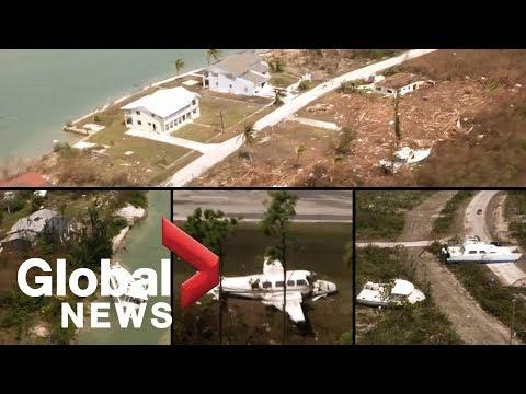 Hurricane Dorian: Aerials show flattened homes, damaged airport on Grand Bahama