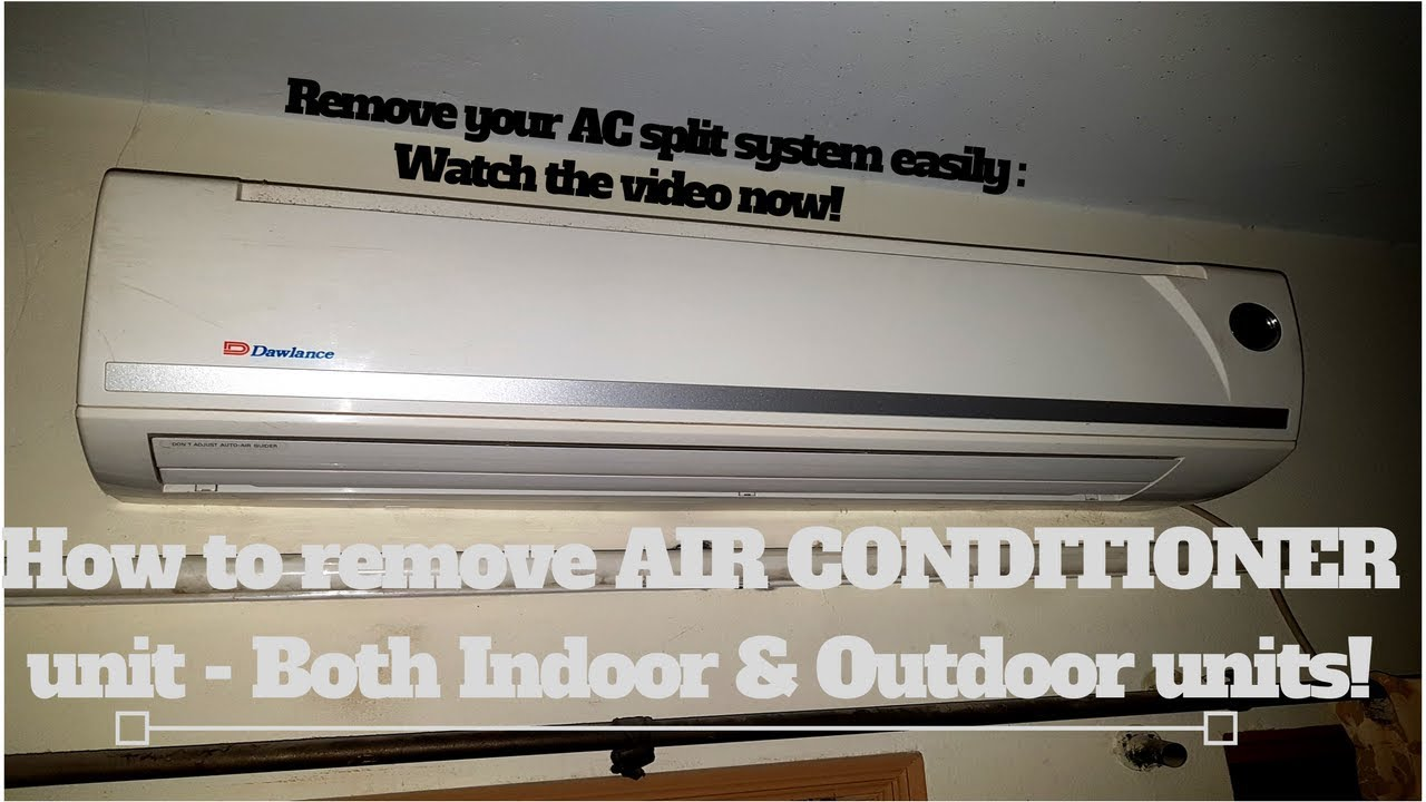 how to remove air conditioner unit [ 1280 x 720 Pixel ]