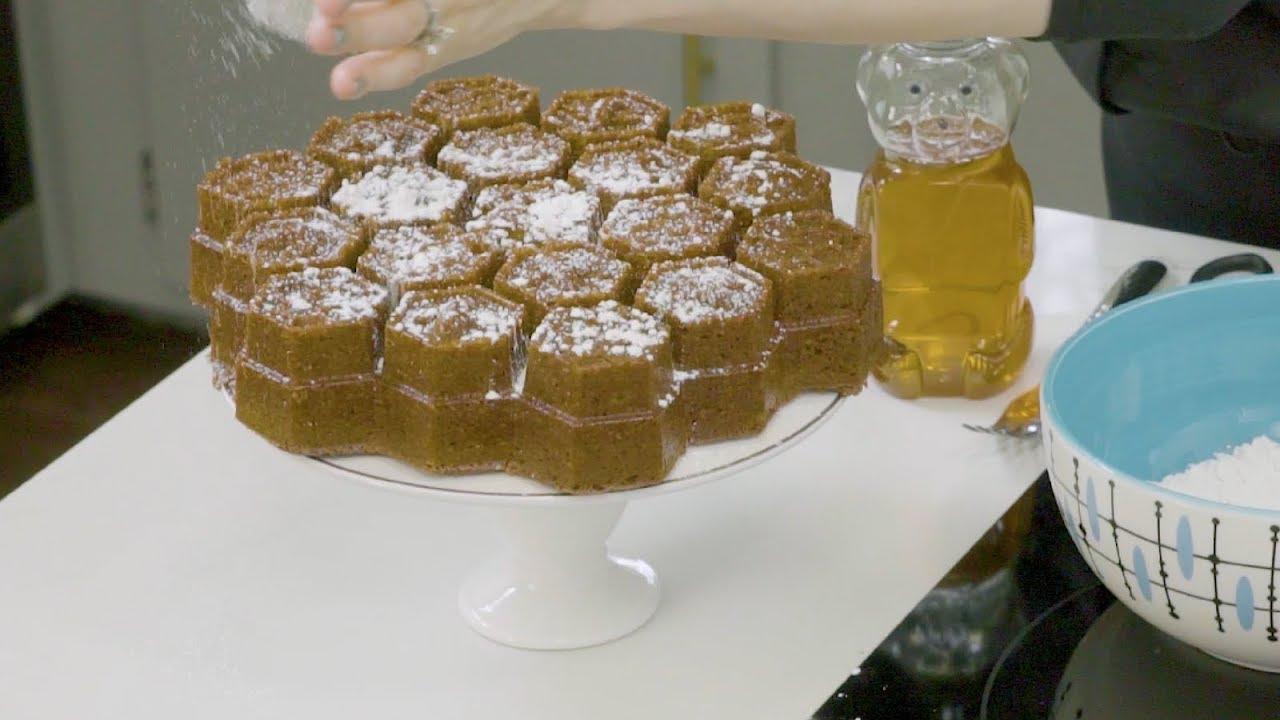 how to make honey cake video