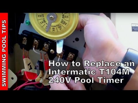 how to replace an intermatic t104m 240v 208 277 v pool timer