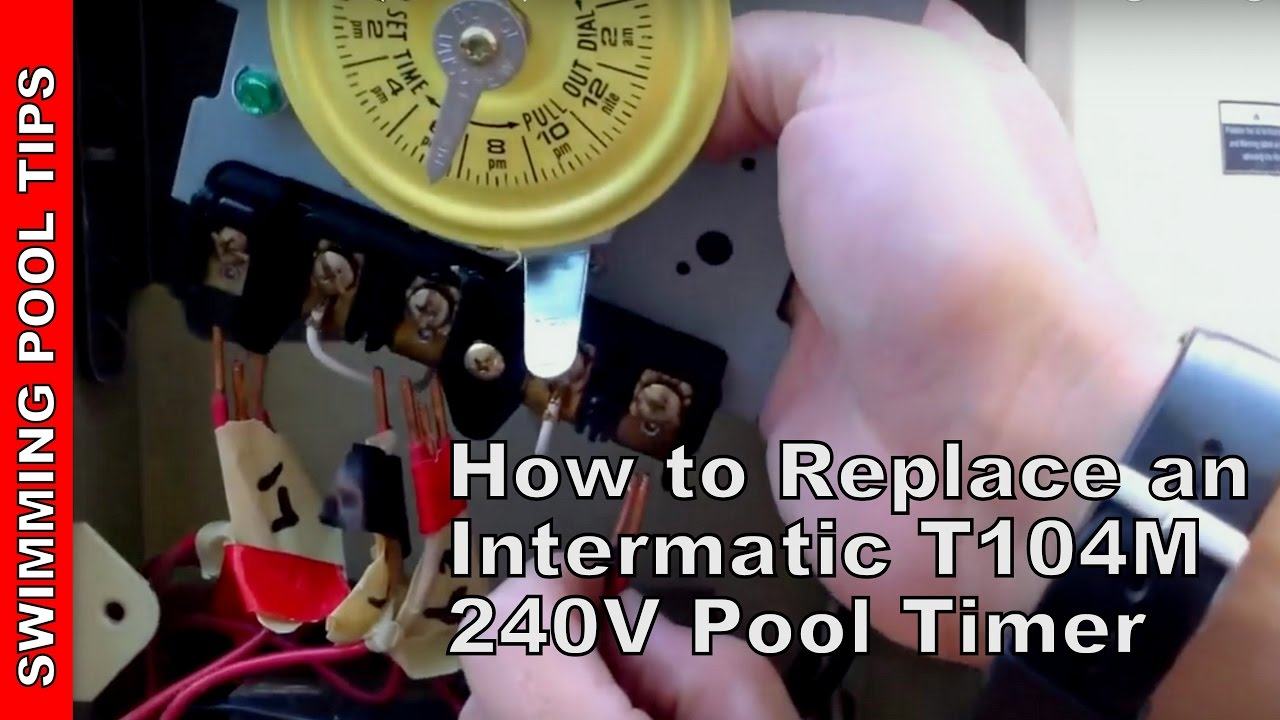how to replace an intermatic t104m 240v 208 277 v pool timer [ 1280 x 720 Pixel ]