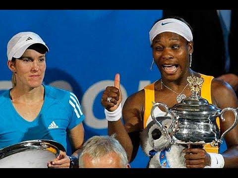 Serena Williams vs  Justine Henin 2010 Australian Open Highlights 720p 60fps