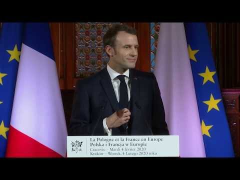 #NewsUpdate  | France's Macron Lecture - 'Poland And France In Europe' | #MacronLive