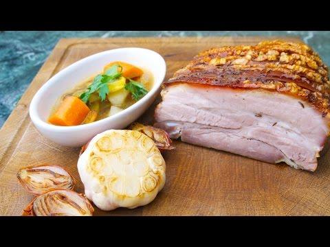 Original bayerischer Schweinsbraten nach Opa Loibl nach Chefkoch Thomas Sixt zubereiten