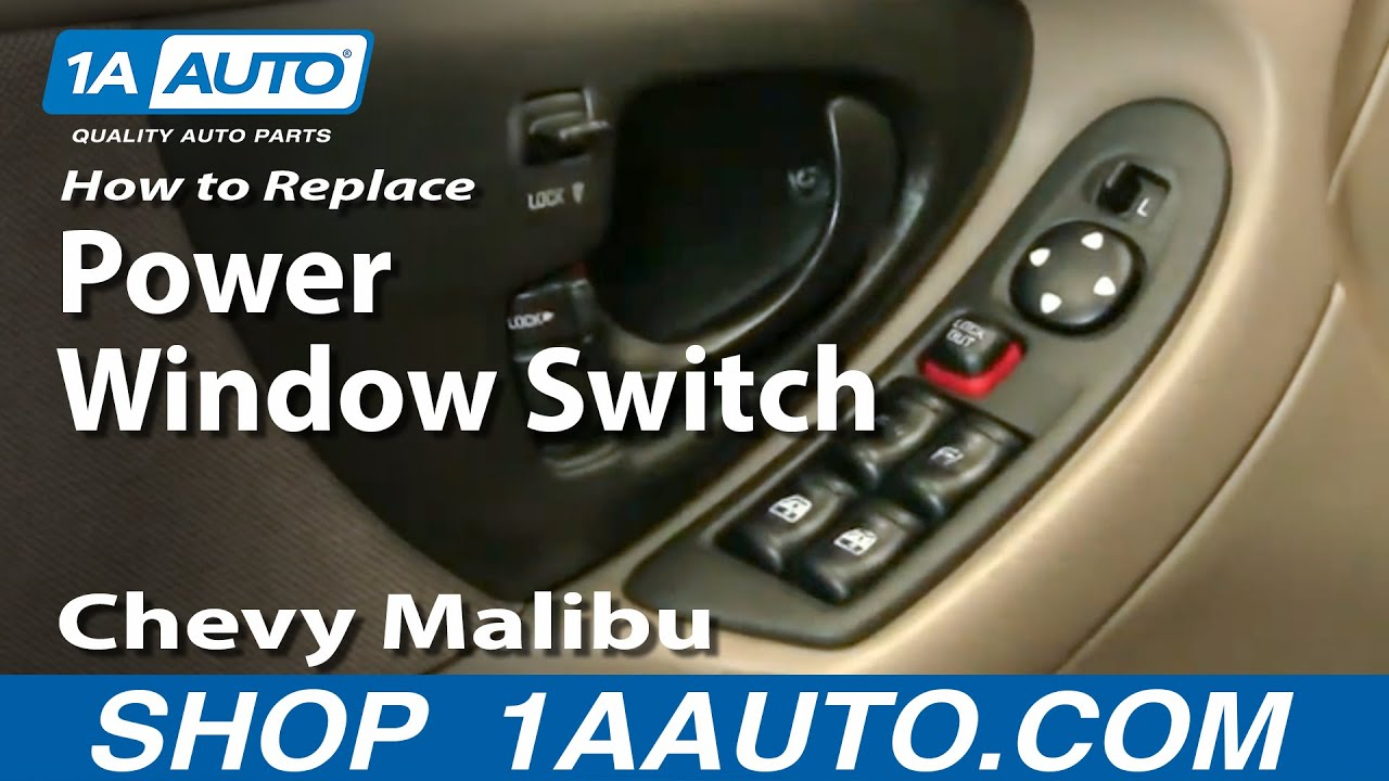 maxresdefault how to install replace broken power window switch chevy malibu 97 3 Phase Motor Wiring Diagrams at edmiracle.co