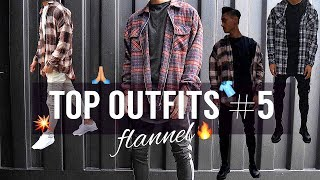 TOP OUTFITS #5 💥 | FLANNEL 👕 | LOOKBOOK | bhpdao