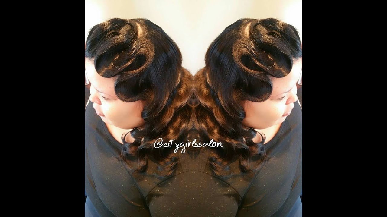 Hollywood Clic Vintage Soft Push Waves Long Hair Tutorial