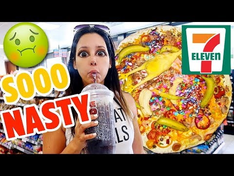 24 Hours Eating Only 7-ELEVEN Food - I Got SO Sick 🤢🤮 | Mar