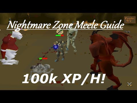 Oldschool Runescape - Nightmare Zone Melee Guide! Over 100k XP/H AFK