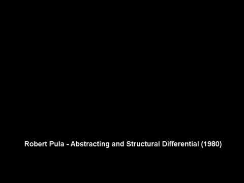 Robert Pula - Abstracting and Structural Differential (1980)