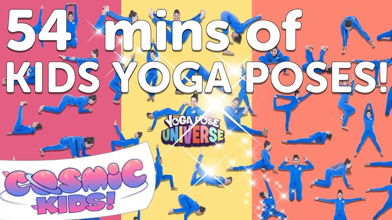 Kids Yoga Poses Compilation 54 Minutes Cosmic Kids Yoga Youtube