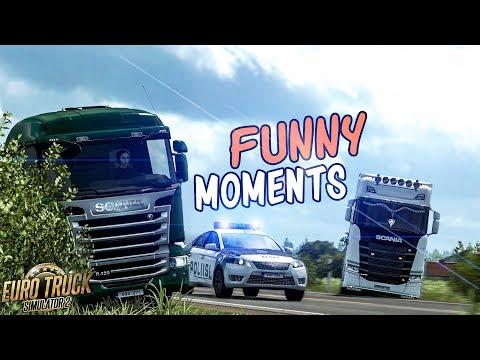 Euro Truck Simulator 2 Multiplayer Funny Moments & Crash Compilation #105