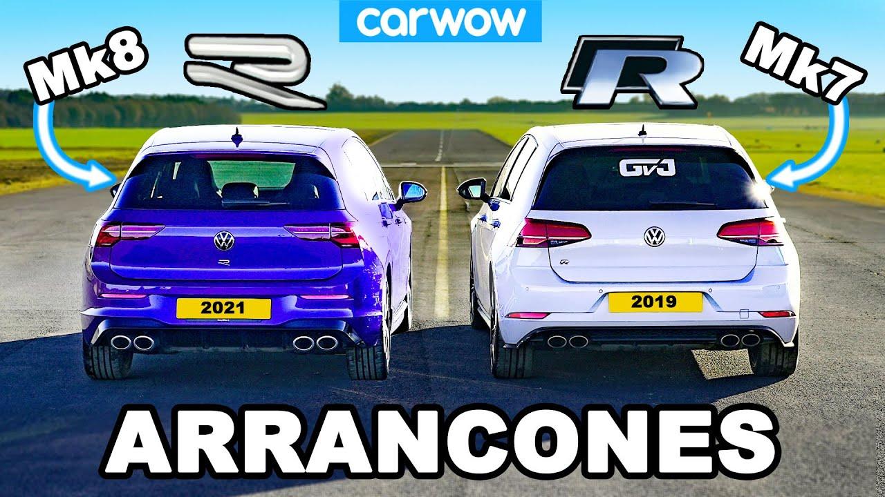 VW Golf R Mk8 vs Mk7.5: ARRANCONES