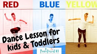 Creative Dance Lesson for Kids & Toddlers - Teaching Colors and Emotional Intelligence