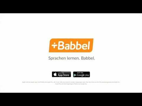 BABBEL WERBUNG HAHAHAHAHAHA