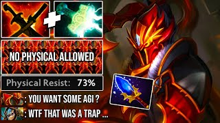 Crazy Aghanim Lv4 Black Dragon Form Dragon Knight | Slark Can`t Steal Any Agi From Him Dota 2