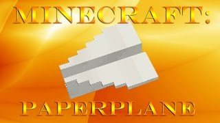 Minecraft Paper Airplane SHOWCASE! Minecraft plane texture (NO MOD)