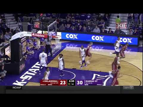Oklahoma vs Kansas State Men's Basketball Highlights