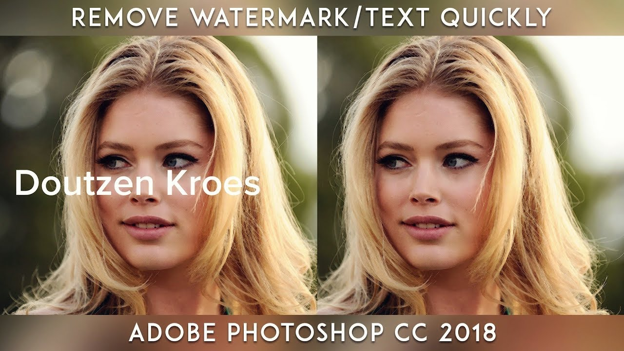 Remove Watermark/Text Quickly From Any Images || Adobe Photoshop CC 2018
