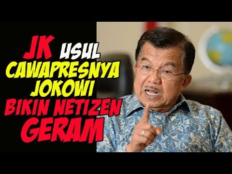 BEGINI USUL JK SOAL CAWAPRES JOKOWI DI PILPRES 2019