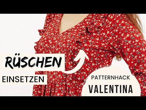 Rüschen an Schulter nähen - Patternhack Valentina - Rüschen nähen