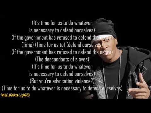 MC Shan - Time For Us To Defend Ourselves (Lyrics)
