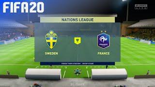 FIFA 20 - Sweden vs. France   Nations League