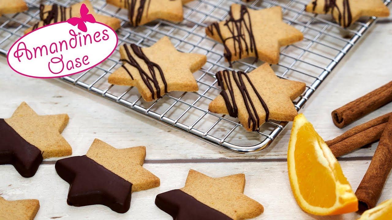 Weihnachtsplätzchen Mit Schokolade.Orangen Zimt Plätzchen Mit Schokolade Weihnachtsplätzchen Für Den Food Adventskalender 2017